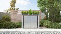Mülltonnenbox Pflanzdach Plandesign Granit 120 Liter 2 Mülltonnen