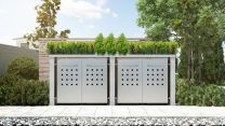 Mülltonnenbox Pflanzdach 4x4 Design Granit 240 Liter 4 Mülltonnen