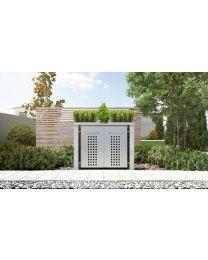 Mülltonnenbox Pflanzdach 4x12 Design Granit 120 Liter 2 Mülltonnen