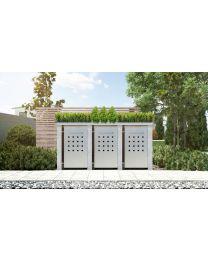 Mülltonnenbox Pflanzdach 4x4 Design Granit 240 Liter 3 Mülltonnen