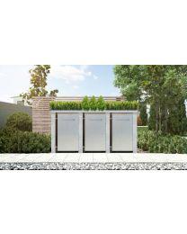 Mülltonnenbox Pflanzdach Plandesign Granit 240 Liter 3 Mülltonnen