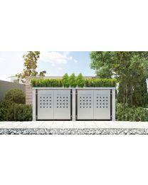 Mülltonnenbox Pflanzdach 4x4 Design Granit 120 Liter 4 Mülltonnen